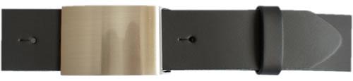 Wechselgürtel schwarzes schweres Rindsleder - Deutsche Lederwarenfabrikation